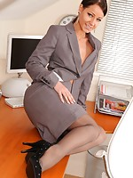 Kristina getting naughty in the office
